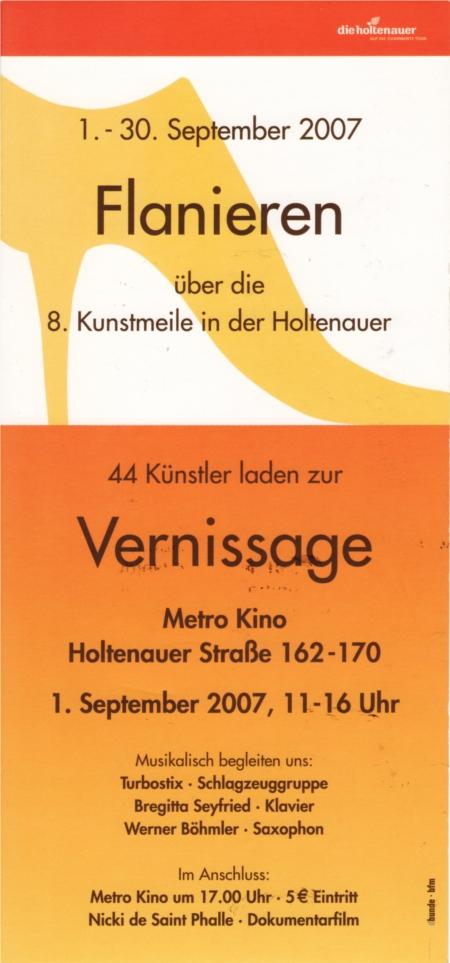 Einladung Kunstmeile 2007