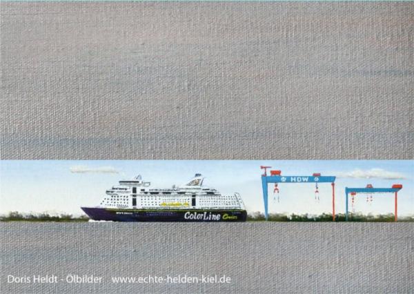 "Postkarte ""Color Line & HDW"""