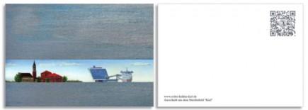 Postkarte Rathaus Kiel StenaLine